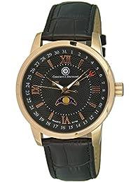 Constantin Durmont Herren-Armbanduhr Calendar Phase of Moon Analog Quarz Leder CD-CALE-QZ-LT-RGRG-BK