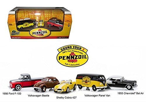 motor-world-pennzoil-service-station-5-car-set-1-64-by-greenlight-58025-by-greenlight
