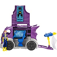 Mattel DC Comics DVG94 De plástico vehículo de Juguete - Vehículos de Juguete (De plástico, Gris, Púrpura, Coche, DC Super Hero Girls, 6 año(s), Niño/niña)