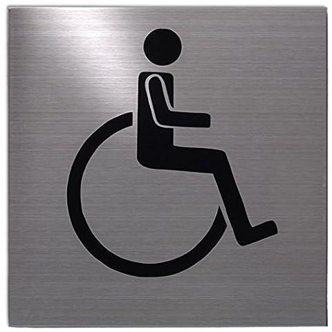 Pictogramme Toilettes - Xaptovi Plaque de porte picto: Toilettes handicapés