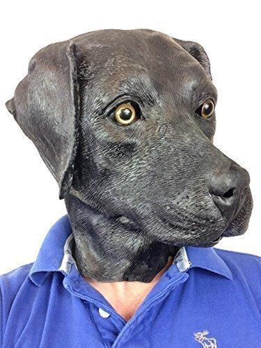 Schwarzer Labrador Hund Maske Filmqualität Tier-Masken-Kostüm Hundeartige