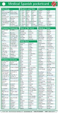 Medical Spanish Pocketcard
