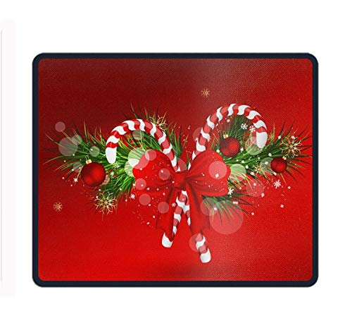naments Candy Cane Rectangle Non-Slip Rubber Mousepad Custom Gaming Mouse Pad ()