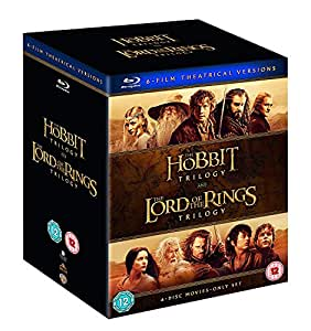 The Hobbit & The Lord of the Rings Trilogy - 6 Movies Collection: Fellowship of the Ring + The Two Towers + Return of the King + An Unexpected Journey + The Desolation of Smaug + Battle of the Five Armies (6-Disc Box Set)