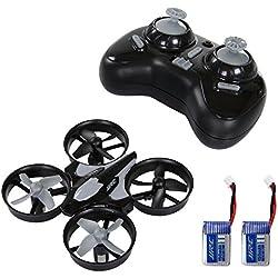 SGILE Mini UFO Quadcopter Drone Control Remoto 2.4G 4 canales de 6 ejes sin cabeza modo con 2 Baterías