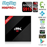 H96 PRO+ Android 6.0 3GB/32GB TV Box, ShySky Amlogic S912 64bit Octa Core 4K Kodi 16.1 Preinstalled Full Loaded Double WiFi 2.4G/5.8G Bluetooth 4.1 1000M Ethernet Streaming Media Player (H96 PRO+ 3GB/32GB) immagine
