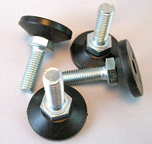 Stück 4verstellbare Nivellierfüße/Fuß M8M10x 30mm Gewinde Länge Küche Schreibtisch Tisch Spüle Prep Bench, M10 (Tisch Kühlschrank Prep)