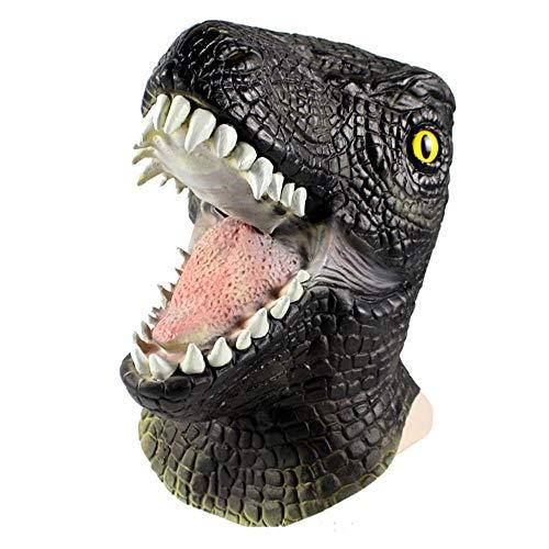 Park Kostüm Jurassic Raptor - CHENJJ Masken Horror Raptor Tiermaske Kopfbedeckung Lustiger for Halloween Teufel Helm Leistungsrequisiten Scary Scary