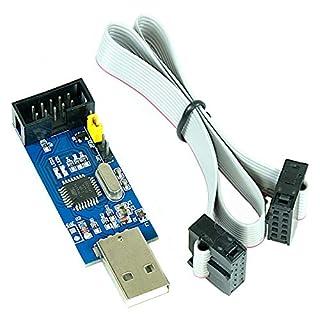 USBasp 3,3V 5V Programmiergerät inkl. Kabel, USB ISP Programmer für Atmel AVR und Arduino