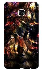 Omnam Wolf Dark Effect Printed Designer Back Cover Case For Samsung Galaxy C7