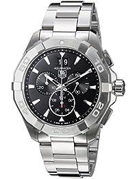 TAG Heuer Herren-Armbanduhr 43mm Armband Edelstahl Gehäuse + Quarz Zifferblatt Schwarz CAY1110.BA0927