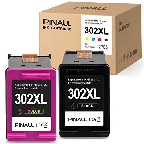PINALL 2 HP 302XL 302 Cartouches dŽEncre Compatibles pour HP DeskJet 1110 DeskJet 2130 3630 3636...