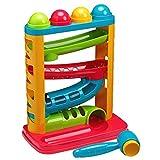 Tippi Pound a Ball Racer - Giocattolo da Lancio per Palline per Bambini o Neonati - Martello e 4 Palline da Gioco - Adatto da 12 Mesi +