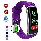 Smartwatch,Wasserdicht Smart Watch,IP68 Uhr mit Pulsmesser Fitness Armbanduhr Sport Uhr Fitnessuhr mit Schrittzähler,Schlaf-Monitor,Setz-Alarm,Stoppuhr,SMS-, Anruf-Benachrichtigung Push/Kamera,Purple