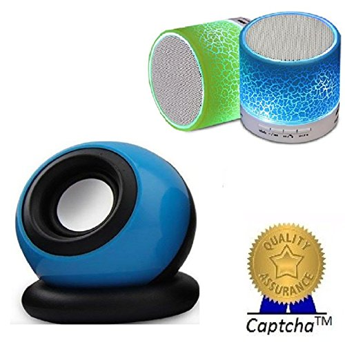 Apple iPhone 5S Compatible Ceritfied Z3 Compatible Certified 4 in1 Mobile Speakers with AUX Support, Memory Card Slot, FM Radio, pendrive Support (Inbuilt Rechargeable Li-Ion Battery which Lasts Upto 4 Hours of Music Playback) (Assorted Color) with FREE GIFT  available at amazon for Rs.599