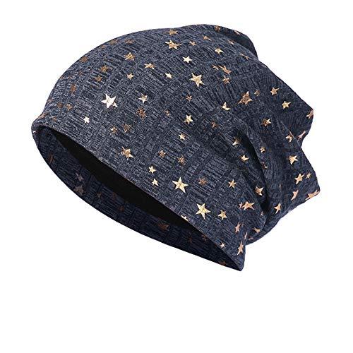 (LOLIANNI Mädchen Caps Star Warm Crochet Winter Stricken Ski Beanie Skull Slouchy Caps Hut Freizeit Mode Gedruckt Haufen Baumwolle Strick Mützen Warm Halten Persönlichkeit Einfarbig Hüte)