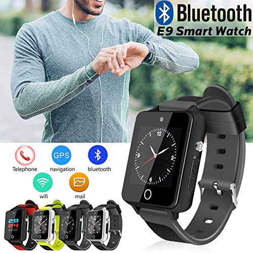 feiledi Trade Bluetooth 3G Smart Watch Wifi Quad core Smartwatch with SIM Card Slot, Android5.1 Phone Call 3G GSM SIM GPS TF Card 2.0MP HD Camera For IOS And Android - 1+16G Silver