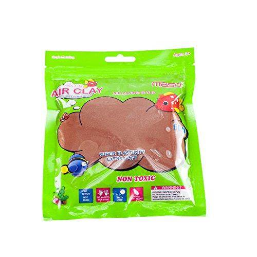 Loomiloo Springknete Zauberknete Hüpfknete Flummimasse Knete Slime Schleim für Kinder Kindergeburtstag Braun