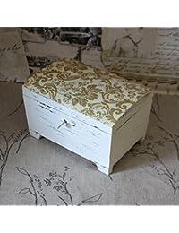 Vintage Schatulle Holzbox Shabby Kiste Holzschatulle Landhaus Nostalgie Retro