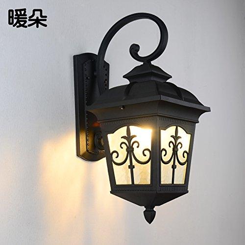 SADASD Outdoor wasserdicht Wandleuchte im chinesischen Stil Post Garten Garten Villa Gang Wand Lichter, kleine Bronze Band 5 W LED-Lichtquelle (Licht Wand Kupfer-bronze-outdoor)