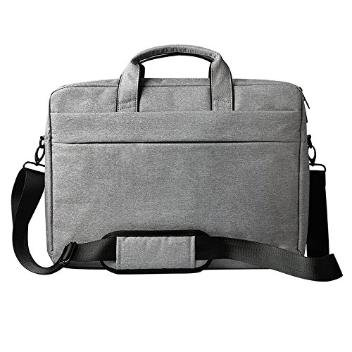 Rewy DJ01 15.6'' inch Sleek Water Resistant Light Weight Bag with Handle and Belt Multipurpose Usage/Pockets, Tablet Bag Cross Over Shoulder Official Laptop Bag - Grey