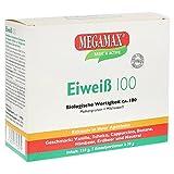 MEGAMAX Eiweiß 100 Kennenlern-Set 7 x 30g Molkenprotein + Milcheiweiß Eiweiss Protein mit Biologischer Wertigkeit ca. 100. Für Muskelaufbau und Diaet