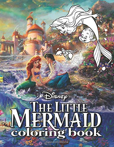 Disney Little Mermaid Coloring Book: Perfect Gift