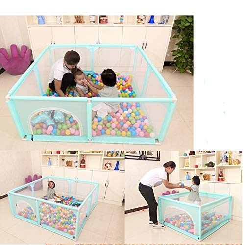 Playpens Green Baby Toddler Compact Safety Play Center Yard with Breathable Mesh and Double Zipper Door (Size : 120×120×62cm)  BSNOWF