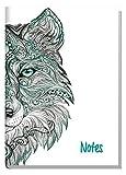 Notizbuch A5 liniert [Wolf] Schulstuff by Häfft, als Tagebuch, Journal, Ideenbuch etc. nummerierte Seiten
