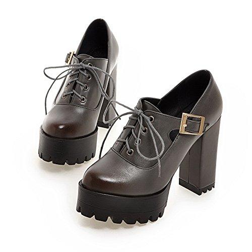 BalaMasa con fibbia, da bambina, in pelle, per scarpe Imitated pompe Gray