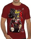 Stylotex Slimfit Fashion T-Shirt So sehn Sieger aus Guy Belgien Belgium, Farbe:rot;Größe:XL