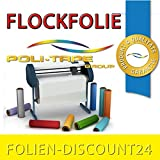 (EUR 25,80 / Quadratmeter) FLOCKFOLIE TbT FLOCK 100 LEMON BÜGELFOLIE TOP ! Preistip Flex Flock 1 M x 50 cm