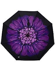 Parapluie Femme Pliant Parapluie Enfant Fille Garçon Manuel Résistant Au Vent Anti-Rayonnement multifonctionnel Léger Pratique vert/violet/rouge