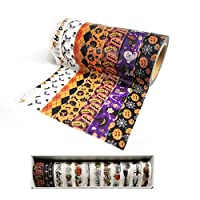 Kungfu Mall 12PCS DIY Decorative Tapes Halloween Washi Tapes Decoration Tapes Stickers for Halloween Decorations Party Supplies