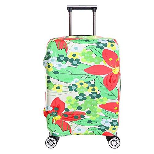 Meijunter Elastisch Gedruckt Taschegage Schutz Tasche Koffer Cover Abdeckung Hülle Anti-Staub Kratzen Beständig (L) (Koffer nicht enthalten)