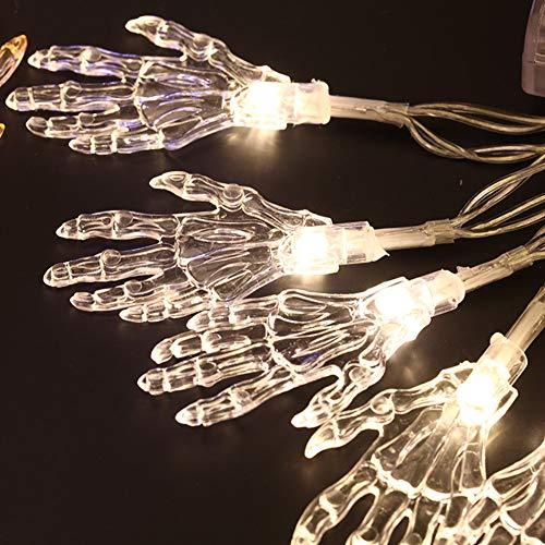 (Wondder LED Halloween Lichter, Geisterhand String Batteriebetriebene Lichter für Bar Ferienhaus Halloween Thema Parteien Dekoration Lieferungen (Warmweiß, 2.5M 20LED))