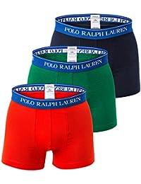 POLO RALPH LAUREN Hommes Short 3-Pack, Classique Tronc - Marine / Vert / Rouge