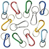 Pack of 12 Multi Use Multi Colour Carabiner Key Clips
