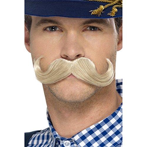 Schnurrbart zum Ankleben falscher Oberlippenbart blond künstlicher Moustache Bart Faschingsbart Schnauzbart Anklebebart Schnauz Schnauzer zum Aufkleben