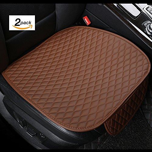 Haosen 2 Stück PU-Leder Sitzbezüge Massage Sitzbezügesets Sitzauflagen Auto Sitzkissen...