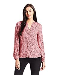 Tommy Hilfiger Womens Body Blouse Shirt (A6AWW027_Red_2)
