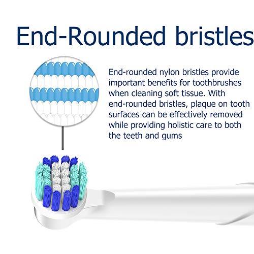 Recambios Cepillo Oral B Compatible, QLEBAO Oral B Cabezales 16 Cabezales para Oral B, Pack de 8 Precision Clean EB20, 8 Sensitive Clean, Cabezales de Cepillo de Dientes (16)