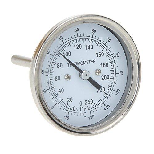 er Edelstahl-Ofen-Thermometer Temperaturanzeige für Zuhause, Küche, Lebensmittel, Fleisch, Zifferblatt ()