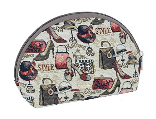 Kosmetiktasche Schminktasche 20 x 13 x 5 cm Hut u Schuh im Gobelin Stil Signare Royaltex Fa. Bowatex -