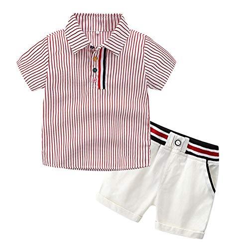 Baby Boy Polo Shirt Top Striped und Kurze Hose Little Kid Kleidung Set für Alter 1-6 Jahre alt