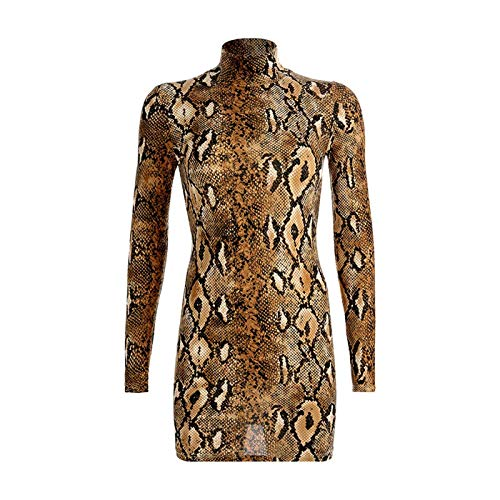DROTYK& Women Sexy Bodycon Long Sleeve Evening Party Cocktail Club Short Mini Dress Gold M - Loft Twin Full