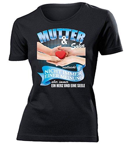 Mutter und Sohn Frauen Damen T Shirt Muttertagsgeschenke Geburtstagsgeschenke Beste Mama Mutti Ideen Kinder Partnerlook Artikel Oma Geschenkidee