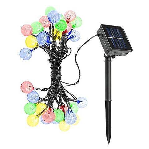Solaire Exterieur - [Guirlandes lumineuses d'extérieur 30 LED Polychrome Solaire
