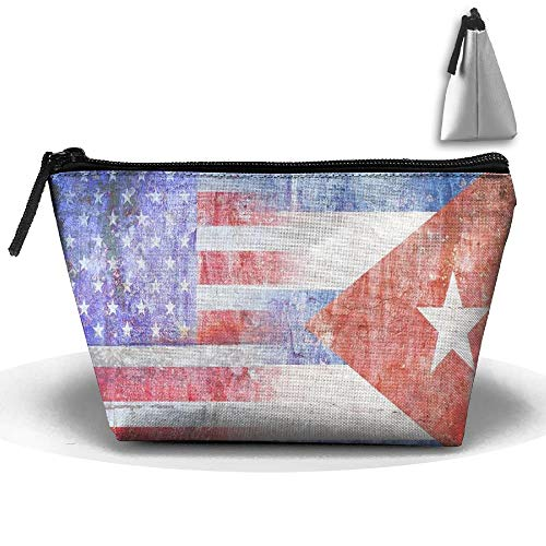Flagge von tragbarem Make-up Kubas USA empfangen Taschen-Speicherkapazitäts-Taschen für Reise mit hängendem Reißverschluss