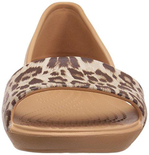 Crocs Lina Graphic Dorsay W, Ballerine Donna Multicolore (Leopard)